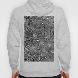 Abstract fancy grey black white design Hoody