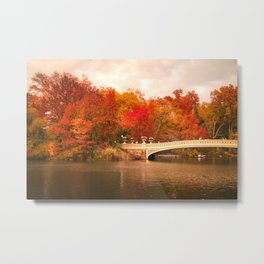New York City Autumn Magic in Central Park Metal Print