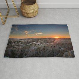 South Dakota Sunset - Dusk in the Badlands Rug