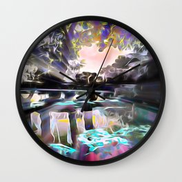 Reflections of Love Wall Clock