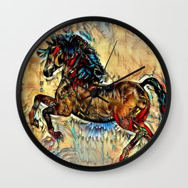 Painted Pony Wall Clock