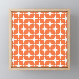 Mid Century Modern Star Pattern Orange 2 Framed Mini Art Print
