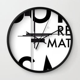 History of Art in Black and White. Suprematism Wall Clock