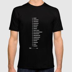 MEASURING SHIRT MEDIUM Black Mens Fitted Tee
