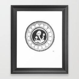 Shroom mandala Framed Art Print
