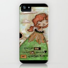 Pause by Diane Duda iPhone Case