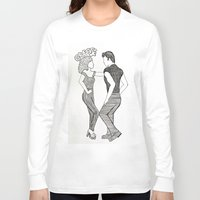 grease Long Sleeve T-shirts featuring Grease  by Claire Coleman