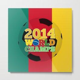 2014 World Champs Ball - Cameroon Metal Print