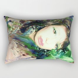 Jeweled GODDESS FAIRY WOOD NYMPH LADYKASHMIR Rectangular Pillow