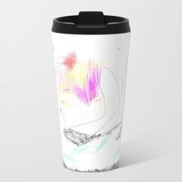 abstract whale Metal Travel Mug