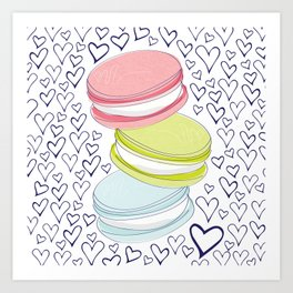 For the Love of Macarons Art Print