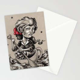 Woman in a Tea Cup Stationery Cards