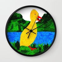 creativity Wall Clocks featuring Creativity  by Sinead Murphy