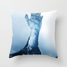 Come with the rain Throw Pillow