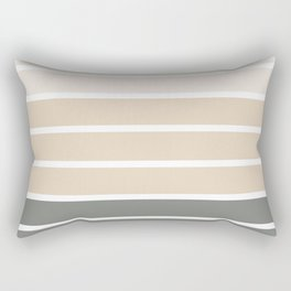 Neutral beige and gray colors stripes Rectangular Pillow