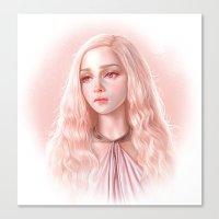 daenerys Canvas Prints featuring Daenerys by Charlotte Kim