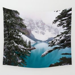 Paradise in the Mountains (Color) Wall Tapestry