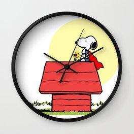 snoppy Super Dog Wall Clock