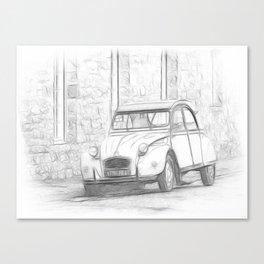 Citroen 2 CV - Deux Chevaux Canvas Print