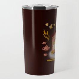 Coffee magic, cozy coffee shop Travel Mug