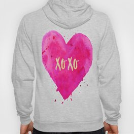 XOXO Poster, Pink iPhone Case, Pillows Mugs amd Towels, T-Shirts, Wall Art Hoody