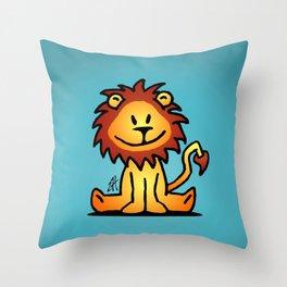 Cute little lion Throw Pillow