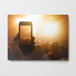 photographing the concert Metal Print
