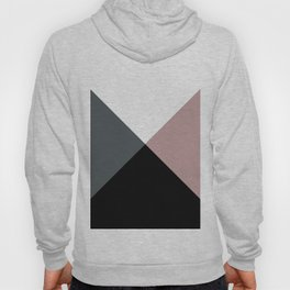 Modern dusty pink gray black white geometrical Hoody