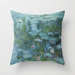 Monet, Water Lilies, Nympheas, Seerosen, 1915 Throw Pillow