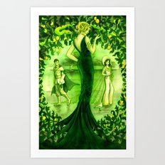 The Little Soldier, Ludovine, Green Fairy Book Art Print