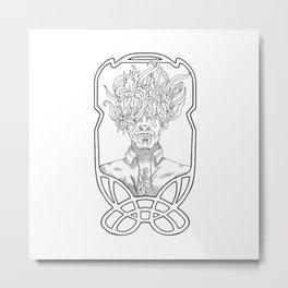 He. Art Nouveau. Metal Print