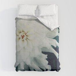 White Dahlia Comforters