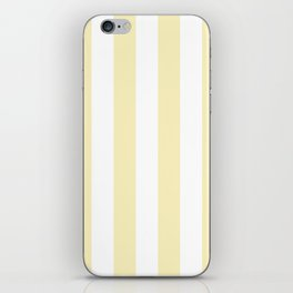 Vertical Stripes - White and Blond Yellow iPhone Skin