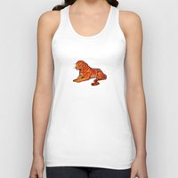 musa Tank Tops featuring tiger by musa