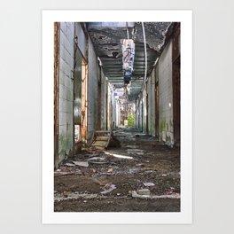 The Abandoned Corridor 2 Art Print