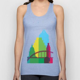 Shapes of Austin. Accurate to scale. Unisex Tank Top