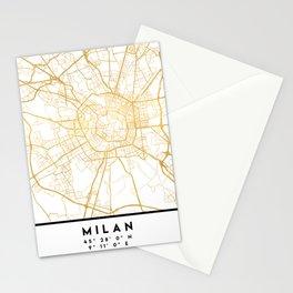 MILAN ITALY CITY STREET MAP ART Stationery Cards