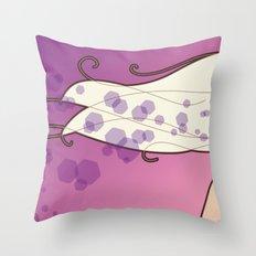 Long hair lady Throw Pillow
