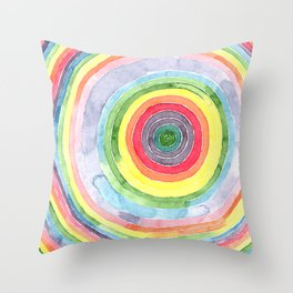 Colorful Hoops Throw Pillow