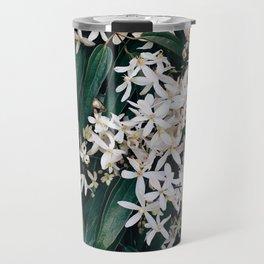 Green and White Travel Mug