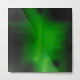 Green Goo Smear Metal Print