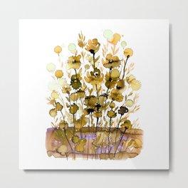 Floral Charm No.1G by Kathy Morton Stanion Metal Print