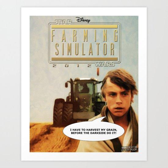 Star Wars Farming Simulator Art Print