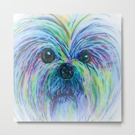 Shih Tzu Dreamy Focus Metal Print