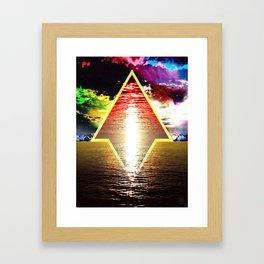 Golden Sea Framed Art Print