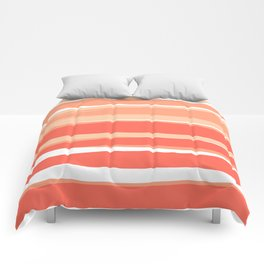 Ocean, Sunset, Abstract, Striped, Pattern Comforters