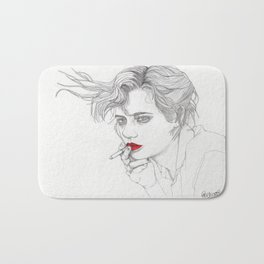 GIRL With The CIGARETTE Bath Mat