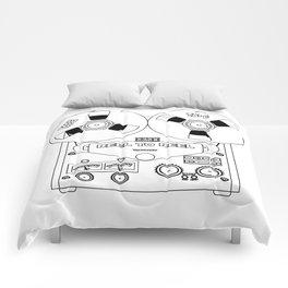 Reel To Reel Line Drawing Comforters