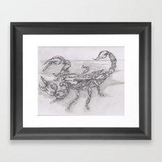 emperor scorpion Framed Art Print