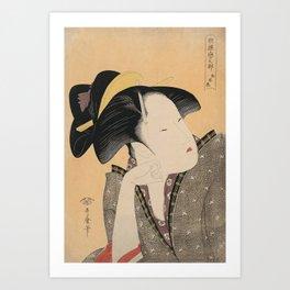 Vintage Japanese Ukiyo-e Woodblock Print Woman Portrait IV Art Print
